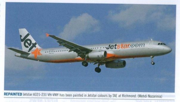 VH-VWY published in Australian Aviation Magazine, January/February 2009, No. 257