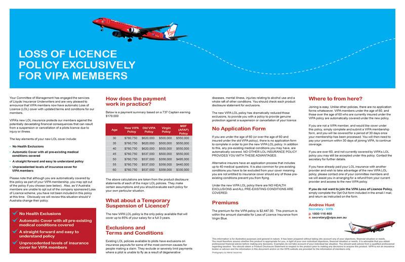 VIPA (Virgin Blue Pilots Association) newsletter, June/July 2010.