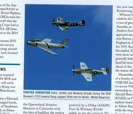 VH-HES published in Australian Aviation Magazine, April 2010, No. 270