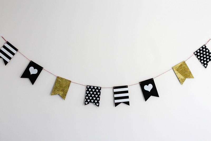 black, white, & gold banner