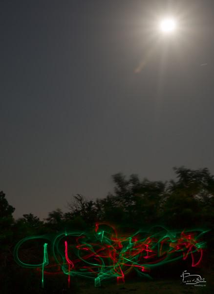 A short Tai Chuan form under a full moon.