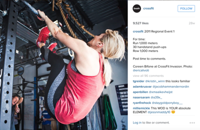 Crossfit Instagram