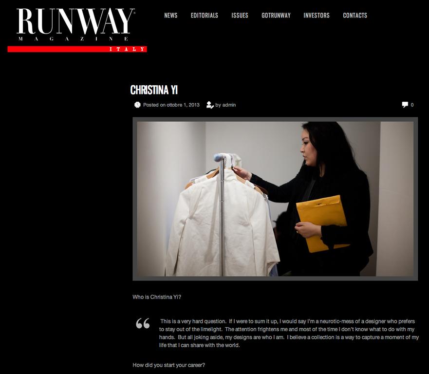 Runway Magazine (Italy)