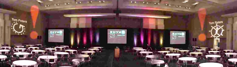 Tom Peters Seminar produced by Rhyno Productions in California.