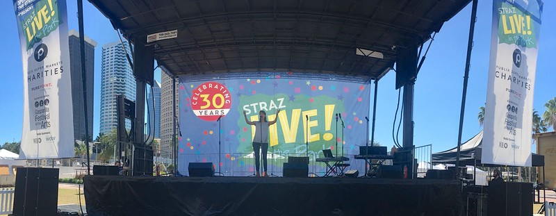 Straz Center's Live in the Park event.