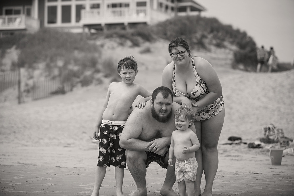 My typical family photo is lacking one kid