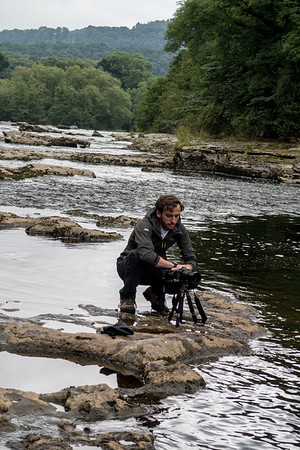 Shooting at the Lower Falls at Aysgarth