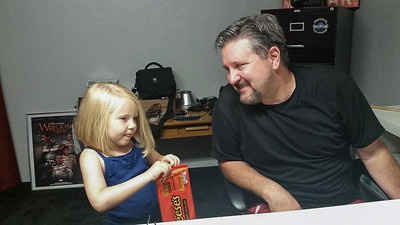 With Meaningful Moments child model, Nevaeh Lynn Parkinson.