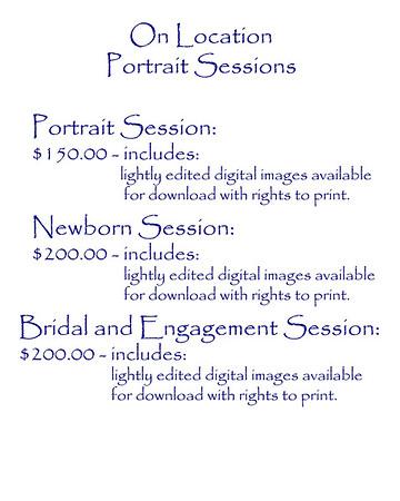 2017 G Photography portrait prices