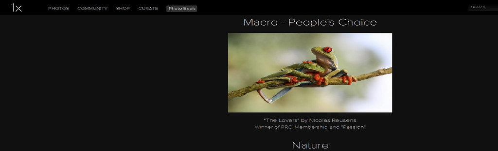 1x macro winner (people´s choice award 2013)