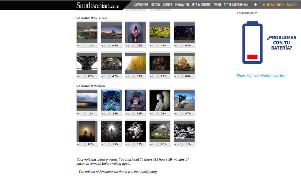 Smithsonian Photo contest 2013 finalists