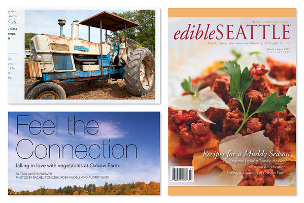 "It's always fun to get a photo published.  My thanks to Oxbow Organic Farm and Education Center ( <a href=""http://www.oxbow.org"">http://www.oxbow.org</a> ) for including this sweet shot I took last spring of children on their climbing tractor in the article that appeared edibleSeattle magazine."