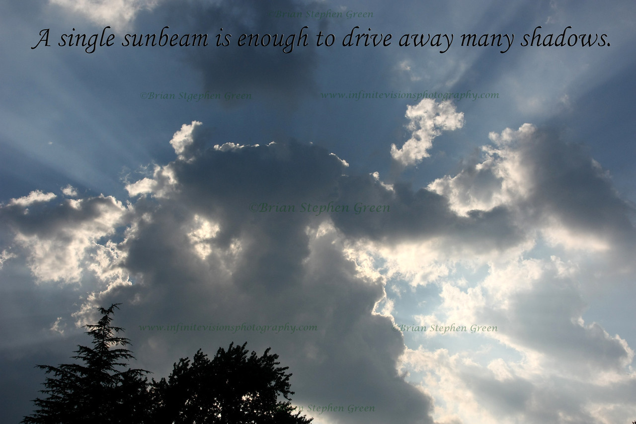 <U><B>Text:</U></B>  Custom text can be added in almost any font, size or color. <BR><FONT SIZE=1>(Quote by St. Francis of Assisi)</FONT>