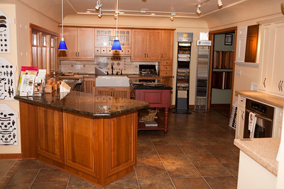 Showroom featuring cabinets by DeWils, Jay Rambo and WayPoint Living Spaces.