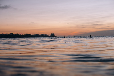 Taken at Scripps during sunset Sunday evening before the swell arrived.