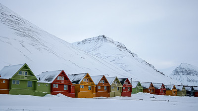 Houses at Longyearbyen, Svalbard