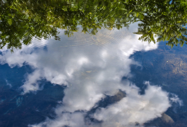 Rippled sky reflection