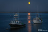 Full Moon Rises at Chatham Pier, Cape Cod #2