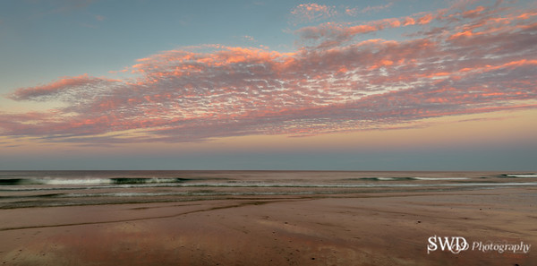 An Easterly View of Sunset at Low Tide from Nauset Beach, Caoe Cod