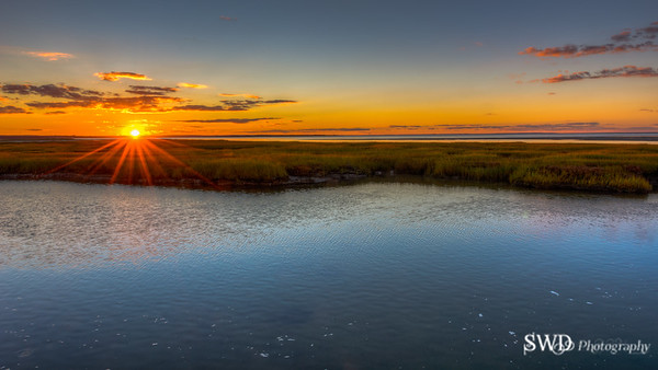 Sunset From Gray's Beach Bridge, Yarmouth Port, Cape Cod