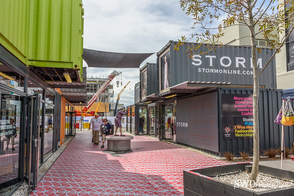 Restart - Shipping Containers as Stores, Downtown Christchurch