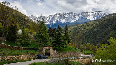 On the Road to Serra del Cadi Mountains