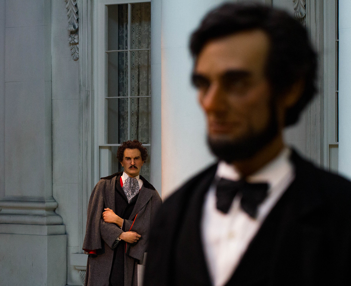 John Wilkes Booth watches Lincoln