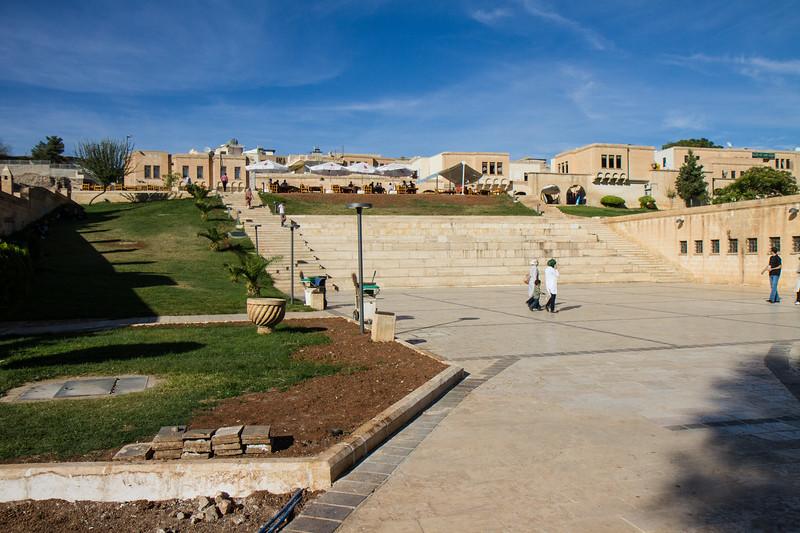 Parks and leisure area near the Balıklıgöl complex.