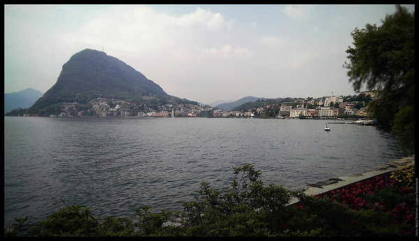 By the lake, just outside the Congress Center  Lugano, Switzerland