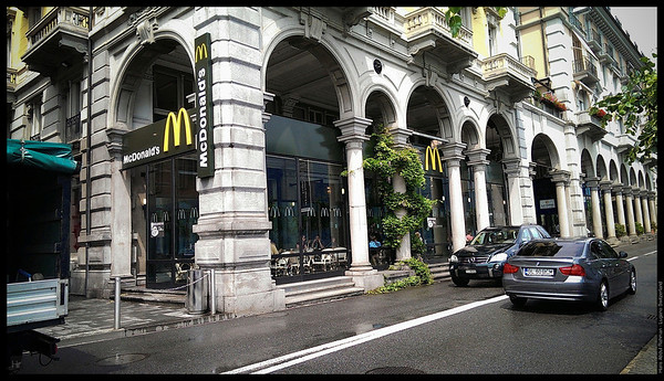 Even the Mcdonald's here looks cool  Lugano, Switzerland