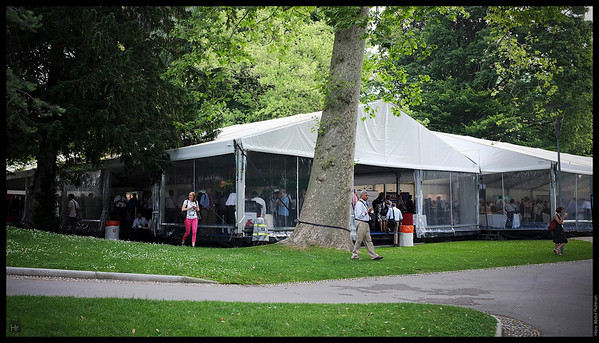 The marquee for drinks. This was where the pharma booths were located.  Lugano, Switzerland
