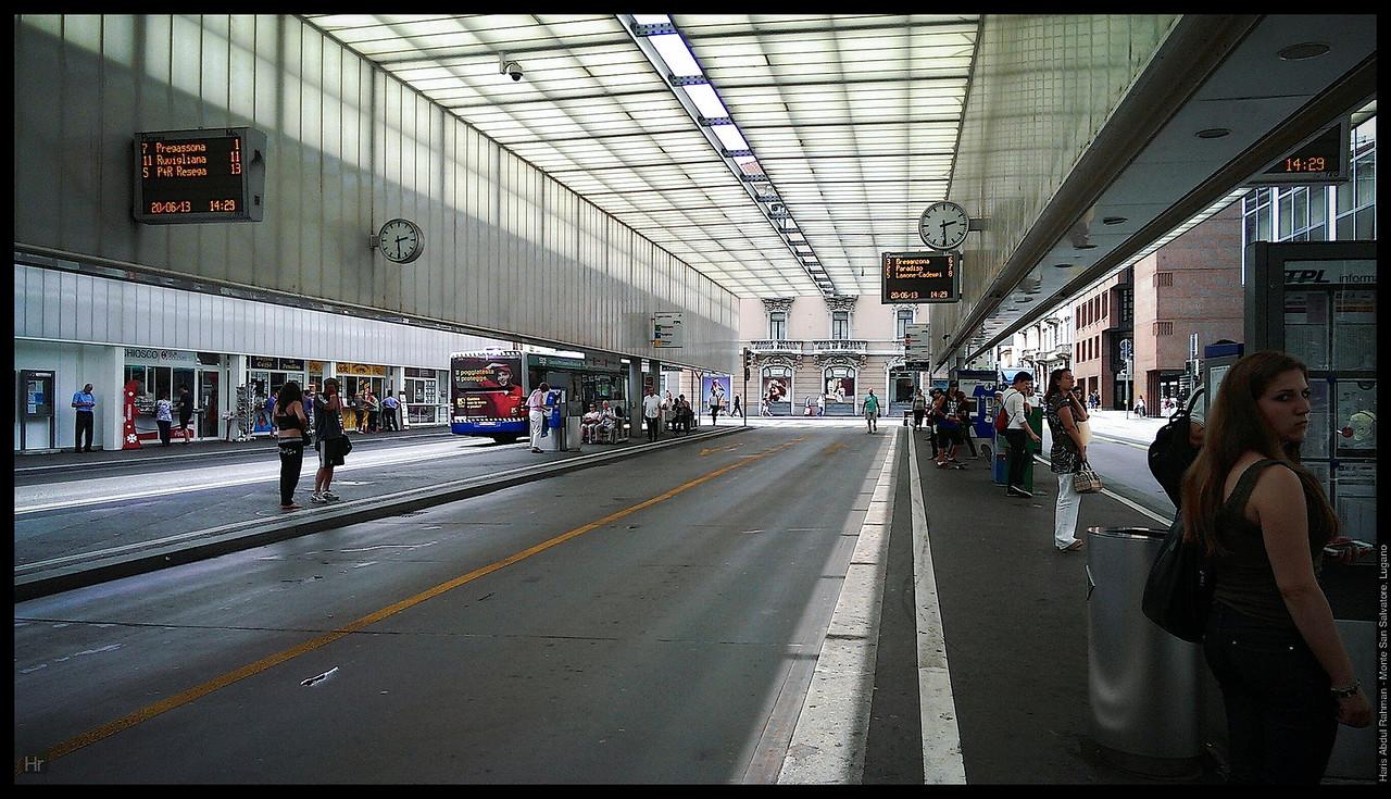 The Lugano bus terminal