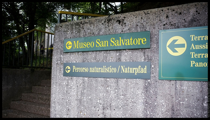 Further on. To the museum and monastery.  Monte San Salvatore, Lugano