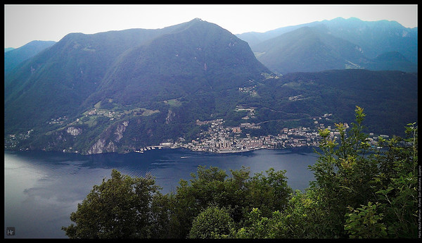 That piece of land is actually in Italy  Monte San Salvatore, Lugano
