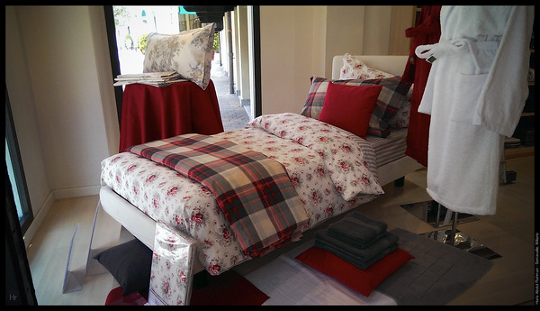 Nice Italian linen as beddings. But to big to carry back to Malaysia.  Serravalle, Piedmont