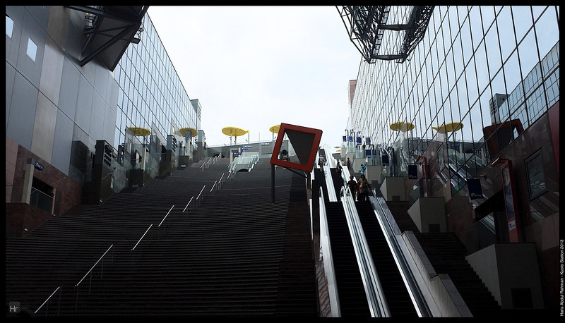 The outside of the 11 floors of Isetan<br /> <br /> Kyoto Station<br /> 6th April 2013<br /> Kyoto, Japan