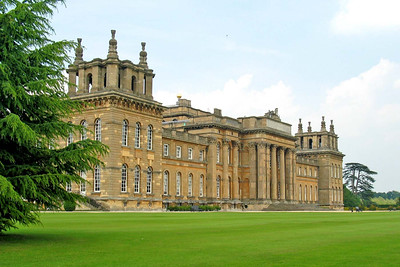 Garden behind Blenheim Palace  Certainly looks grand for a garden party