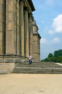 Roman Pillar, Blenheim Palace  Look at the scale of the place. I know that I am not that big, but come on!