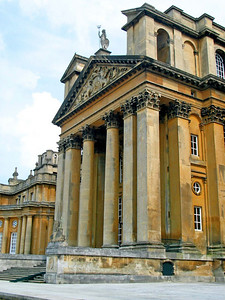 Main Entrance, Blenheim Palace  Blenheim Palace, near Woodstock, Oxfordshire. Home of the Duke of Marlborough. Birthplace of Sir Winston Churchill.