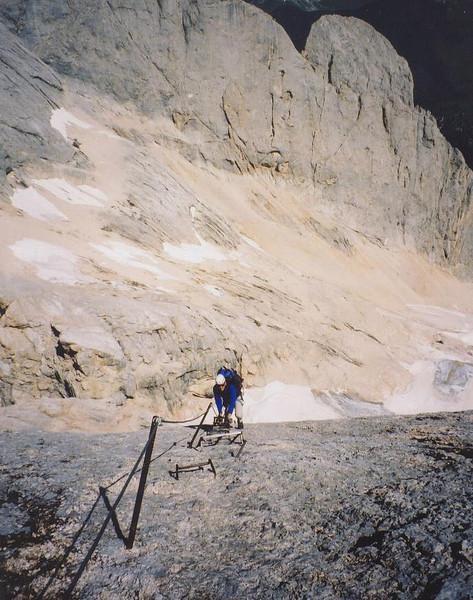 Scott on the west ridge of the Marmolada.