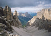 Typical spectacular view in the Dolomites.
