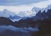 Dusk in the Dolomites.