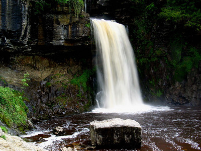 The main waterfall of Thornton Force  It is about 20 meters high or so, and it made a thumping loud noise!