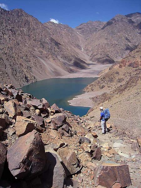 Lac Difni in the Atlas Mountains, Morroco