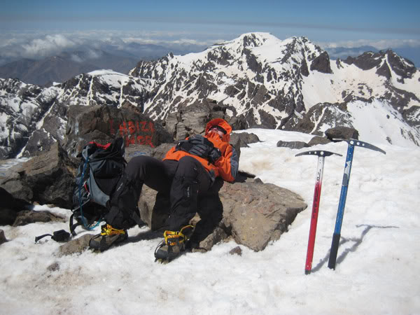 Top of Toubkal, Morroco