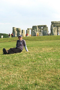 Stonehenge 5 - Just to prove that I was there  I was definitely there, even though this photo taken by Anita was somewhat shaky.
