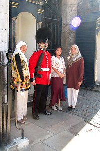 London 7 - The Guards  I can't remember exactly where this was but it was around Buckingham Palace somewhere. The guards do move from time to time and when you indicate to them that you are taking pictures they will politely nod.