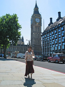 London 5 - Big Ben  Yup! Anita by the Big Ben.