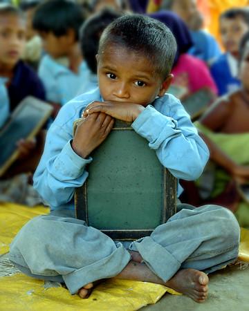 Village Student. Near Varanasi, India. February 2005.