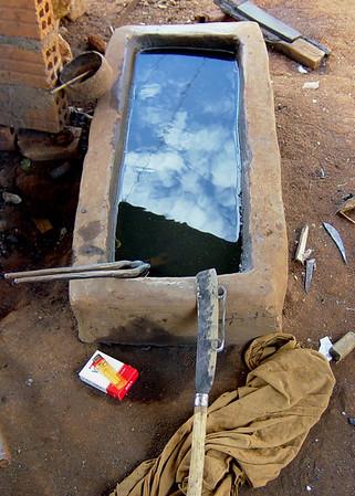 Blacksmith tools. Central highlands village, Vietnam. January 12, 2004.